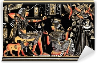 Black egyptian papyrus Vinyl Wall Mural