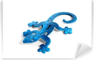 Blue metal lizard Vinyl Wall Mural