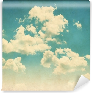 Blue sky with clouds in grunge style. Vinyl Wall Mural