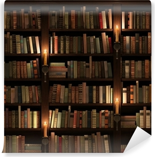 Bookshelf Seamless Texture Vertically And Horizontally Vinyl Wall Mural