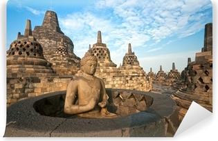 Borobudur Temple, Yogyakarta, Java, Indonesia. Vinyl Wall Mural