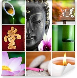 bouddha bambou zen Wall Mural Pixers We live to change