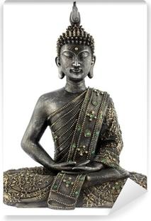 Bouddha statue de bronze zen Vinyl Wall Mural