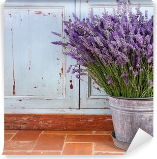 Bouquet of lavender in a rustic setting Vinyl Wall Mural