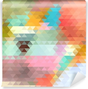 bright background of the triangles Vinyl Wall Mural