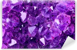 Bright Violet Texture from Natural Amethyst Vinyl Wall Mural