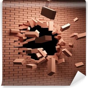 Broken Brick Wall Wall Mural Pixers We Live To Change