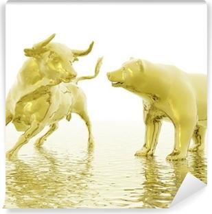 bull and bear Vinyl Wall Mural