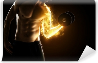 Burning Muscles Vinyl Wall Mural