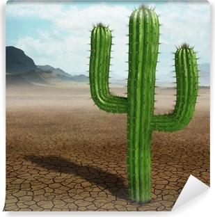 Cactus in the desert Vinyl Wall Mural
