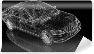 Car 3D model body structure, wire model Wallpaper • Pixers® • We
