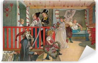 Carl Larsson - Nameday at the Storage House Vinyl Wall Mural