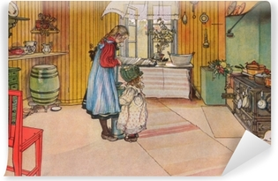 Carl Larsson - The Kitchen Vinyl Wall Mural