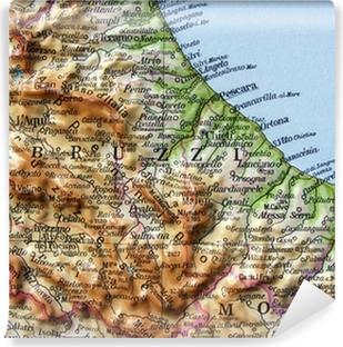 Cartina Stradale Abruzzo Molise.Carta Geografica Dell Abruzzo E Del Molise Poster Pixers We Live To Change