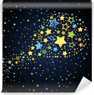 Cartoon star colored comet Vinyl Wall Mural