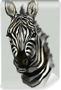 Cg Painting Zebra Head Poster Pixers We Live To Change