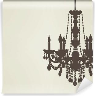 chandelier sillhouette EPS10 Vinyl Wall Mural