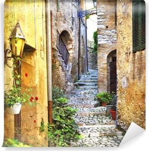 charming old streets of mediterranean Vinyl Wall Mural
