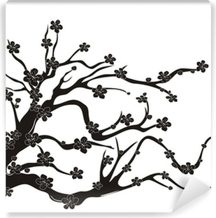 Cherry Blossom Tree Silhouette Wall Mural Pixers We Live To Change