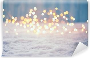 Christmas Bokeh Background Vinyl Wall Mural