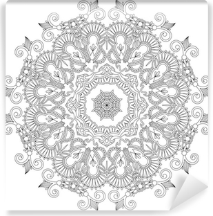 Circle ornament, ornamental round lace Vinyl Wall Mural