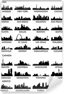City skyline North America Vinyl Wall Mural