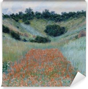Claude Monet - The Poppy Field near Giverny Vinyl Wall Mural