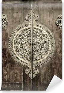 close-up image of ancient doors Vinyl Wall Mural