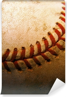 Closeup of an old, used baseball Vinyl Wall Mural