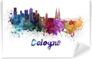 Cologne skyline in watercolor Vinyl Wall Mural