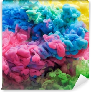 Colorful acrylic ink in water isolated. Abstract background. Color explosion Vinyl Wall Mural