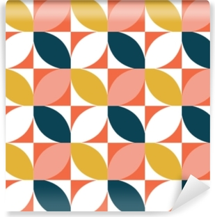 Colorful geometric seamless pattern. Mid century style. Vector background. Vinyl Wall Mural