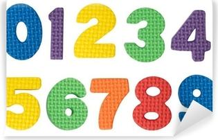 Colorful numbers Vinyl Wall Mural
