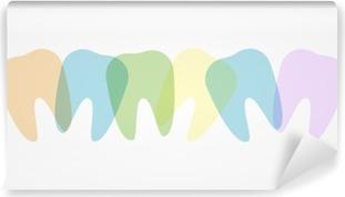 Colorful teeth illustration Vinyl Wall Mural