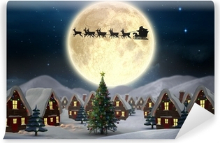 Composite image of cute christmas village Vinyl Wall Mural