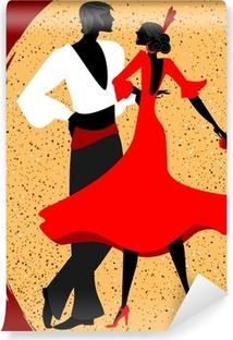 couple of flamenco dancers Vinyl Wall Mural