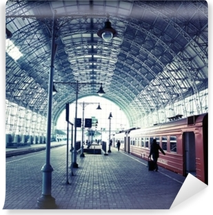 Covered railway station Vinyl Wall Mural