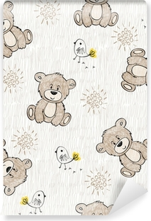 Cute hand draw seamless pattern for kids. Vinyl Wall Mural