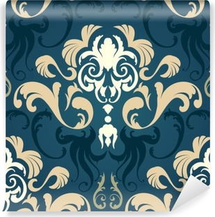 Damask seamless pattern Vinyl Wall Mural