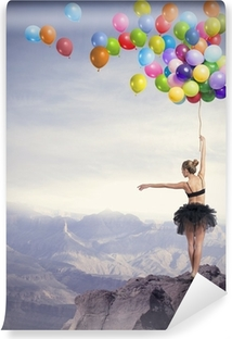 Dancer with balloons Vinyl Wall Mural