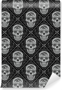 Day of the Dead Seamless Pattern Vinyl Wall Mural