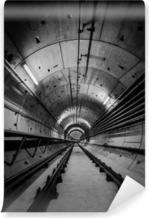 Deep metro tunnel Vinyl Wall Mural