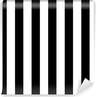 Diagonal lines black and white pattern Vinyl Wall Mural
