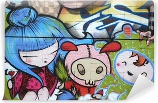 dibujo manga. graffiti arte urbano Vinyl Wall Mural