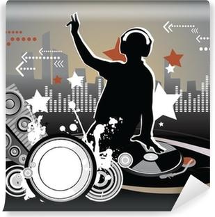 Dj, music concept, illustration Vinyl Wall Mural