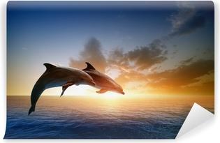 Dolphins jumping Vinyl Wall Mural