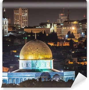 Dome of the Rock at night Vinyl Wall Mural