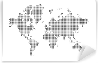 World maps in black and white wall murals pixers dots world map vinyl wall mural gumiabroncs Gallery