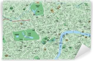 downtown london map self adhesive wall mural