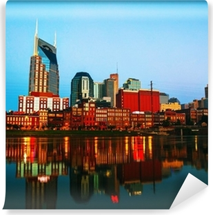 Downtown Nashville cityscape in the morning Vinyl Wall Mural